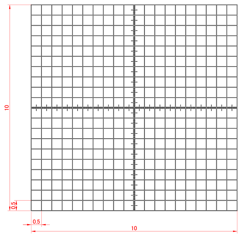 Grid Scale For Stereomicroscope 500mobjective Micrometer